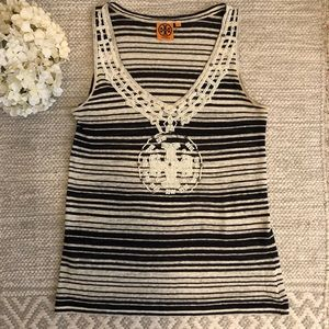 Tory Burch Beaded Tank Top Size Small